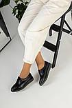 Женские черные туфли на шнурках, фото 9