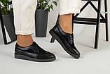 Женские черные туфли на шнурках, фото 10