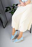 Замшевые балетки голубого цвета, фото 6