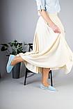 Замшевые балетки голубого цвета, фото 10