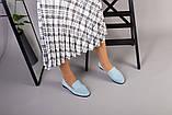 Замшевые голубые туфли на низком ходу, фото 2