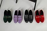 Замшевые закрытые туфли на низком ходу, красные, фото 9