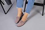 Замшевые туфли на низком ходу пудрового цвета, фото 3