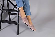 Замшеві туфлі на низькому ходу мерехтливої кольору