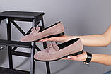 Замшевые туфли на низком ходу пудрового цвета, фото 2
