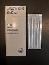 Иглы для рефлексотерапии, акупунктуры 0,30*60 мм - 100шт  CLOUD&DRAGON