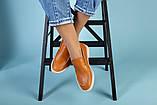 Рыжие кожаные туфли-лоферы на светлой подошве, фото 10