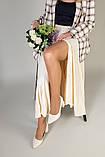 Туфли женские кожаные молочного цвета, каблук 6,5 см, фото 6