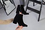 Черные замшевые ботильоны на каблуке, фото 9