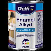 Эмаль ПФ 115 Delfi желтая, 0.9 кг
