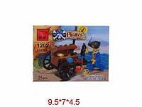 """Конструктор """"Brick - Пираты"""", 25 дет., в кор. 9,5х7х4,5 /120/ (1202)"""
