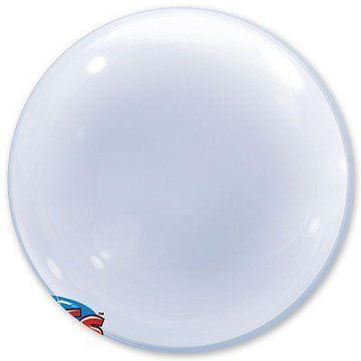 """Кулька Bubbles 24"""" прозорий Qualatex"""
