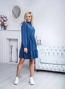 Платье женское короткое джинс