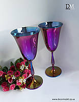 Набор бокалов сияние для вина Bohemia Fregata 350 ml (цвет: РАДУГА)
