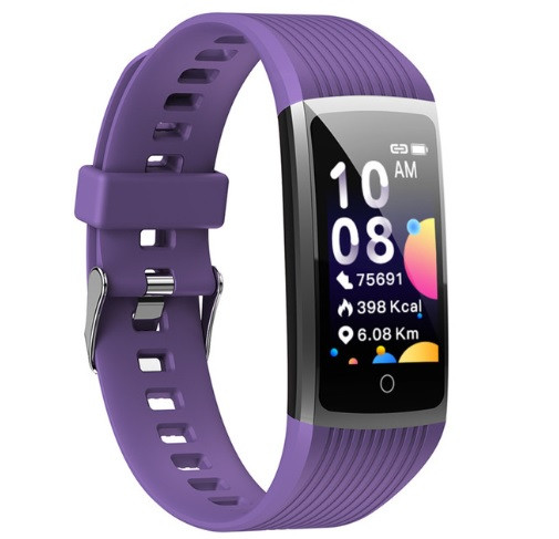 Фітнес-браслет з вимірюванням пульсу і тиску Smart Band R12 Фіолетовий
