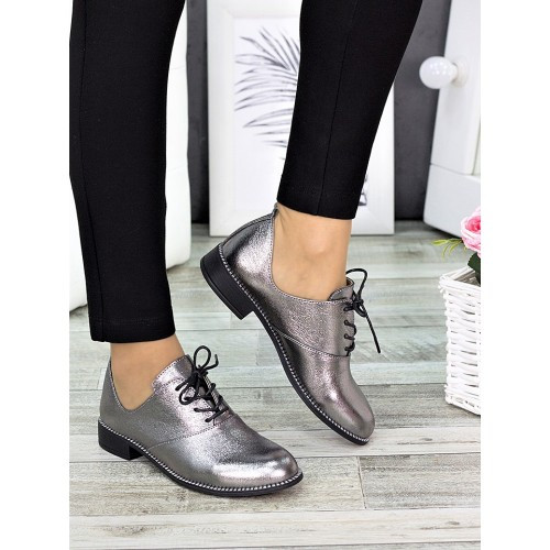 Женские туфли кожаные сатин Эвелин 7270-28