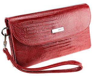 Женский кошелек-клатч Karya 1121-074 кожаный красный