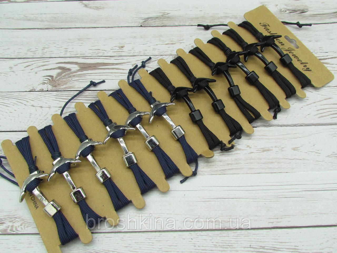 Мужские браслеты текстиль/металл 12 шт/уп.