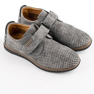 Туфли летние для мальчиков Bessky 34  серый 980504