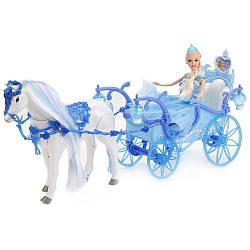Карета для кукол Милана223A Сказочной экипажс лошадкой куклой звуковыми и световыми эффектами