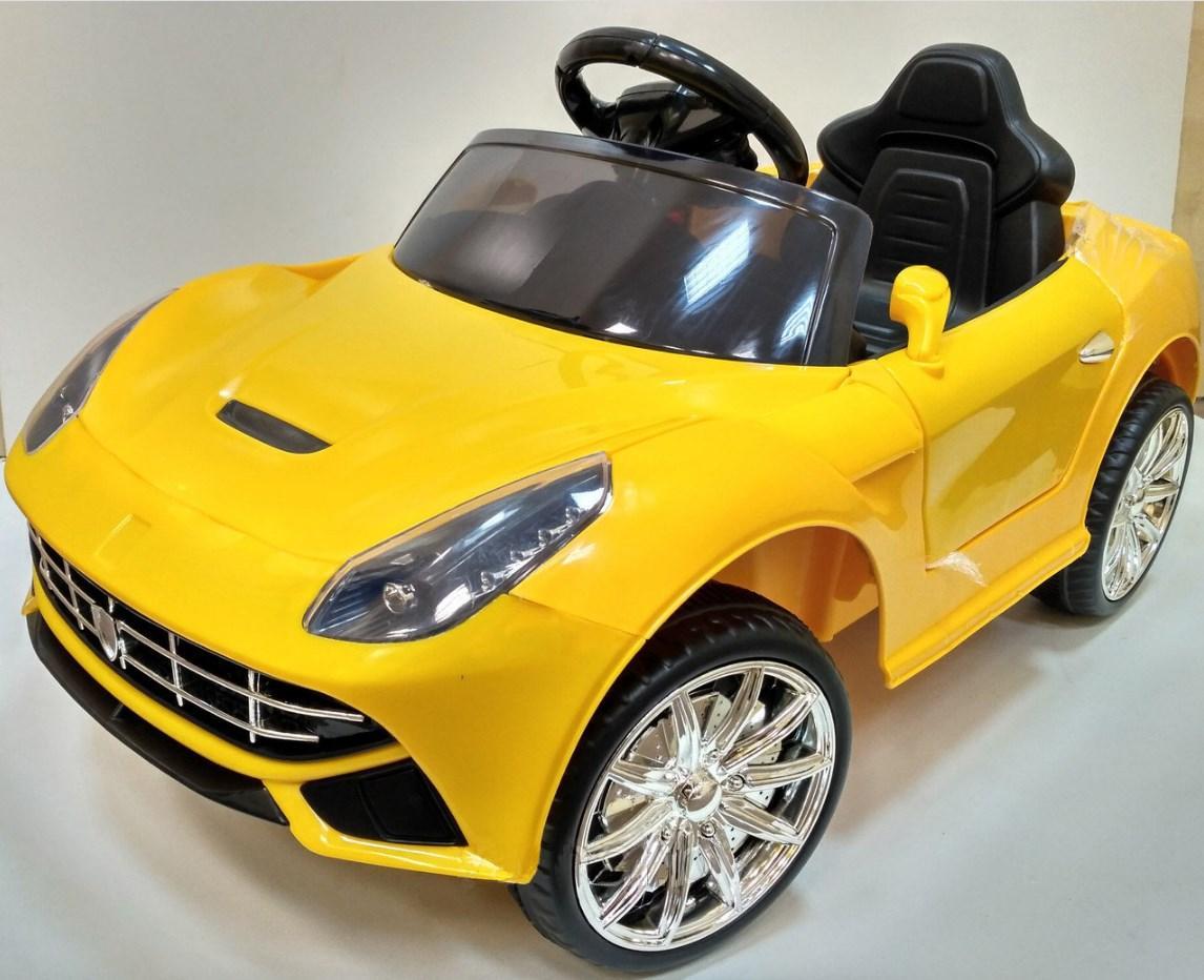 Детский электромобиль FL1078 EVA Yellow Ferrari, желтый