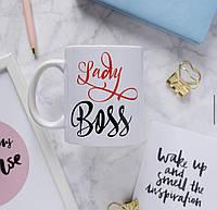 КРУЖКА ,ЧАШКА ! Lady Boss ! Индивидуальные чашки с надписью , фото , картинкой !
