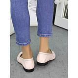 Женские туфли кожаные пудра Пегги 7257-28, фото 2