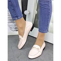 Женские туфли кожаные пудра Пегги 7257-28, фото 1