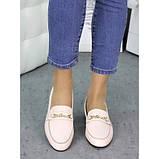 Женские туфли кожаные пудра Пегги 7257-28, фото 4