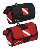 Сумка для дайвинга Scuba Mask Bag with Defog Pocket 09 черно красная