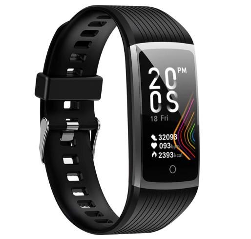 Фітнес-браслет з вимірюванням пульсу і тиску Smart Band R12 Чорний