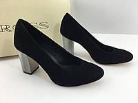 Туфли женские на серебряном каблуке 9 сантиметров тм. Ross