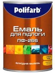 Эмаль Polifarb ПФ-266 красно-коричневая,  2,7 кг
