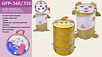 Корзина для игрушек товар (48*36)2 вида микс в сумке со змейкой 40см /24/ (GFP-348/356)