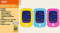 Муз.телефон 3 цвета, свет, звук, батар., в п/э 11*19см /144-2/ (6687)