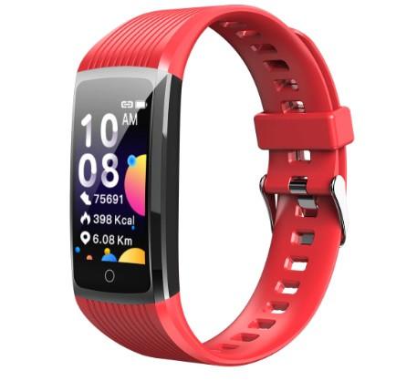 Фитнес-браслет с измерением пульса и давления Smart Band R12 Красный