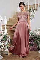 Шикарное вечернее платье в пол. Лиловый, 3 цвета. Р-ры: 44, 46, 48, 50