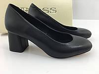 Кожаные женские туфли на устойчивом каблуке тм Ross, фото 1