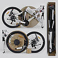 """Велосипед Спортивный CORSO X-Turbo 26""""дюймов 0015 - 701 BLACK-RED (1) рама металлическая 17``,, фото 9"""