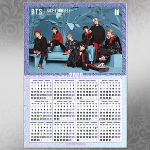 Плакат Календарь BTS 051
