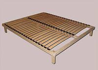Каркас для кровати Деревянный полносборной с металлическими ножками  1400х2000