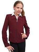 """Пиджак школьный для девочки м-179 бордовый рост 134 тм """"Попелюшка"""", фото 1"""