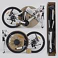 """Велосипед Спортивный CORSO X-Turbo 26""""дюймов 0015 - 793 GREY-YELLOW (1) рама металлическая 17``, 21 скорость,, фото 8"""