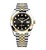 Женские кварцевые наручные часы Rolex Date Just Diamonds Silver-Gold-Black, фото 3