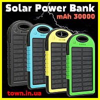 Павер банк Solar Power Bank 30000 mAh. Солнечная батарея Solar Power Bank 30000 mAh, фото 1