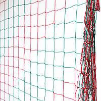 Сетка для футзала, гандбола «ЭКОНОМ» красно-зеленая (комплект из 2 шт.) для Республики Беларусь