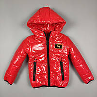 Куртка для хлопчиків та дівчаток 1247 Червоний, 116-122-128-134-140 см, фото 1