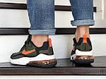 Мужские кроссовки Nike Air Max 270 React (темно-зеленые) 9140, фото 4