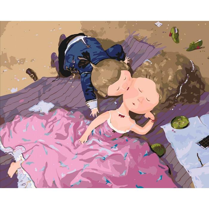 Картина по номерам Гапчинская - Поцелуй в щечку