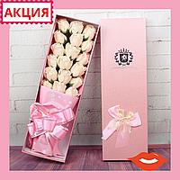 Мыло из роз Букет из роз Цветы из мыла Подарок для девушки Подарок девушке Крутой подарок